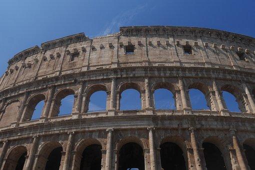 Colosseum, Rome, Italy, Arch, Architecture
