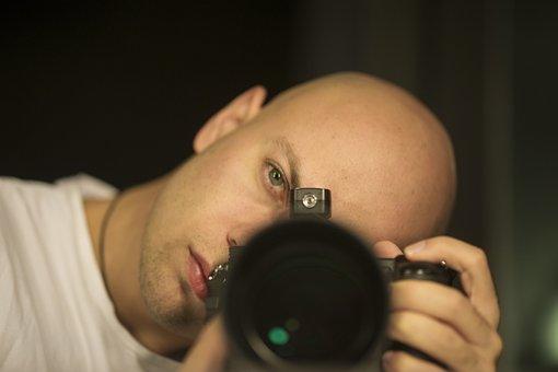 Photographer, Male, Camera, Machine, Model, Pose