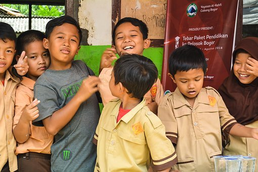 Kids, School, Cheerful, Education, Corners, Bogor