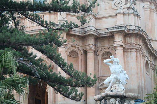 Noto, Sicily, Architecture, Italy, Old, Antique, Facade