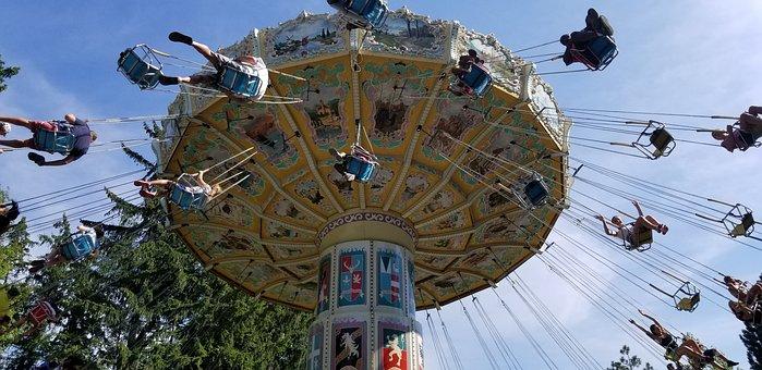 Ride, Fun, Children, Sky, Swings Rides