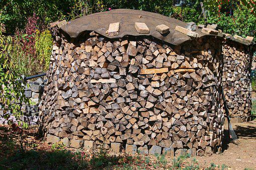 Holzstapel, Firewood, Wood, Growing Stock, Stacked Up