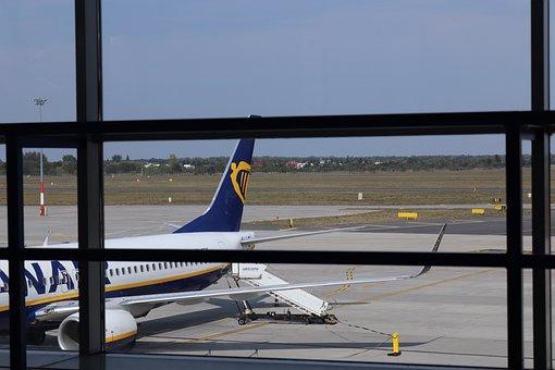 The Plane, Airport, Sky, Flight, Aviation
