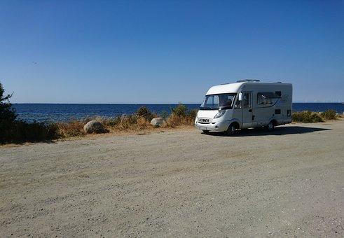 Camping, Mobile Home, Caravan, Vacations, Summer