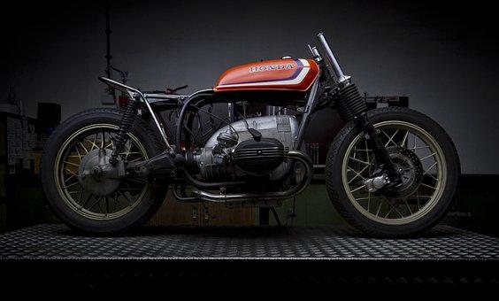 Motorcycle, Caféracer, Cafe Racer, Vehicle, Triumph