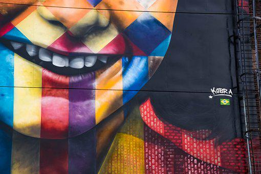 Annefrank, Amsterdam, Kobra, Paint, Wall, Colors