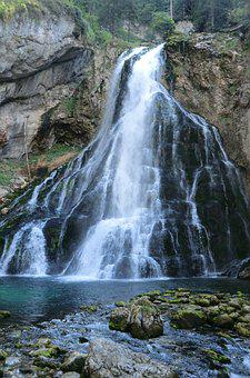Waterfall, Golling, Austria, Scenic, Holiday, Tourism