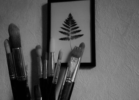 Brushes, Painting, Brush, Artist, White, Paint
