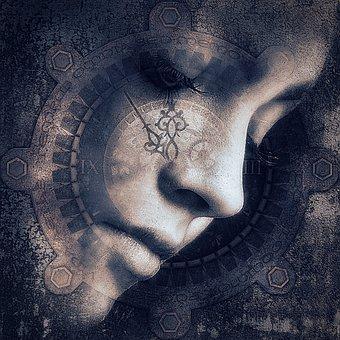 Cd Cover, Portrait, Woman, Dream, Head, Mysterious