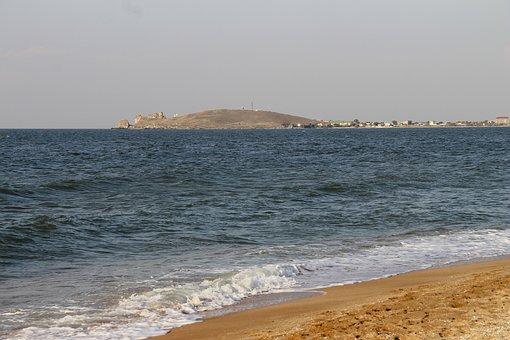 Azov, Sea, Island, Summer, Beach, Sky, Water, Landscape