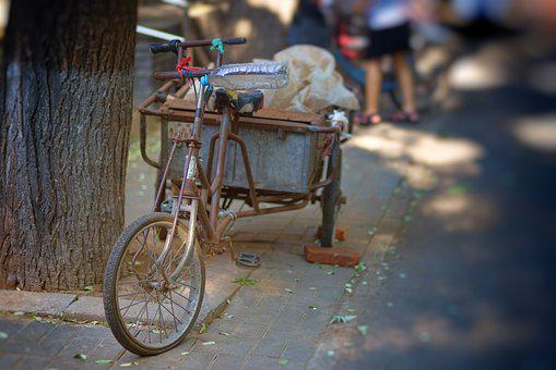 Beijing, Hutong, Bike, Asia, China, Old, Wheel