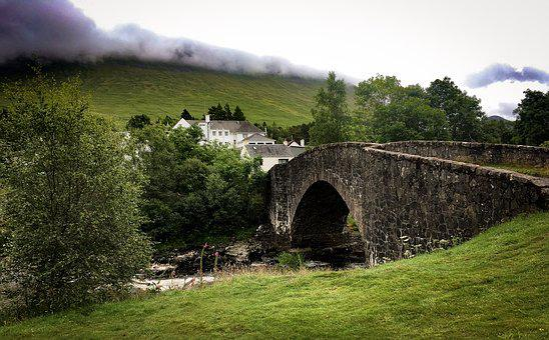 Scotland, West Highland Way, Hiking, Bridge, River
