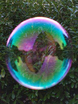 Fantasy World Through The Soap Bubble