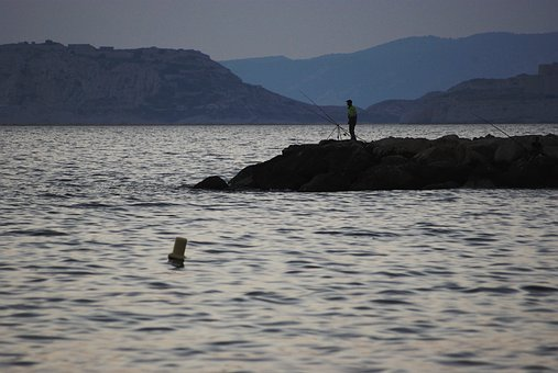 Sea, Twilight, Side, Dam, Epi, Evening, Fishing