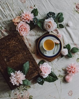 Teacup, Flowers, Pretty Background, Cup, Tea, Pink