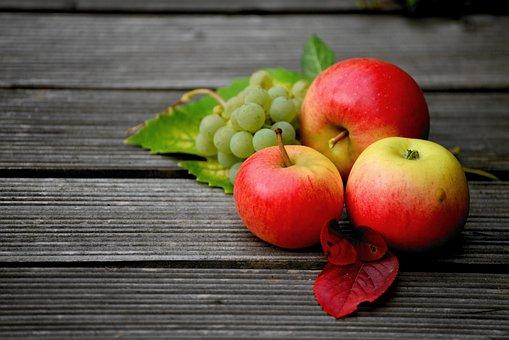Apple, Grapes, Fruit, Harvest, Fresh Autumn, Autumn