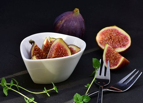 Fig, Sliced, Dessert, Fruit, Healthy, Food, Cut In Half