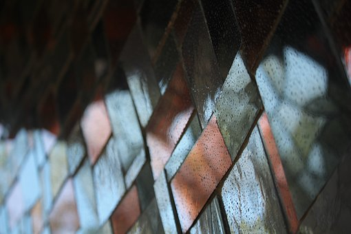 Mosaic, Tiles, Reflection, Surface, Geometry, Wall