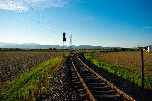 Gleise, Train, Blank, Nature, Field, Railway, Seemed