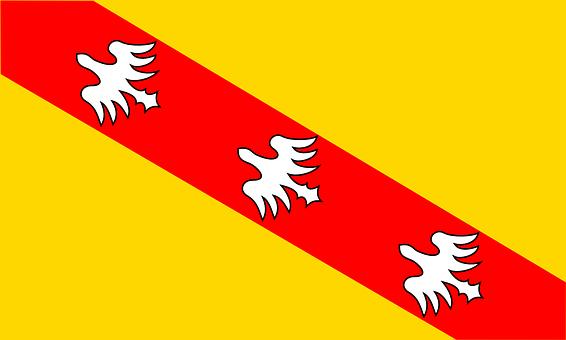 Flag, Lorraine, France, French, Duchy, Golden, Yellow