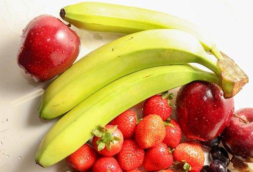 Strawberries, Grapes, Pineapple, Grape, Orange