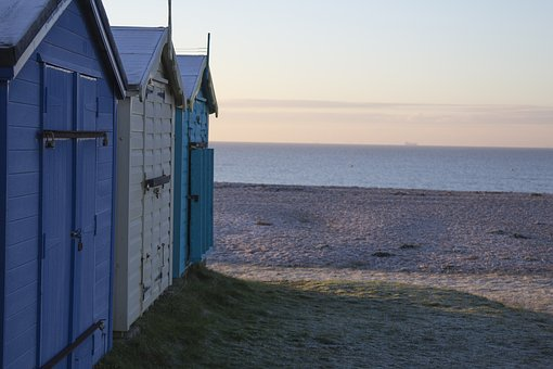 Beach, Hut, Hayling, Island