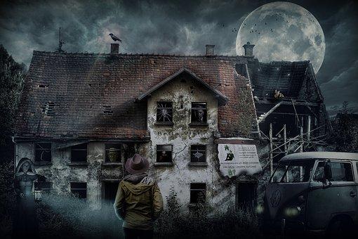 Composing, House, Ruin, Dilapidated, Ailing, Broken