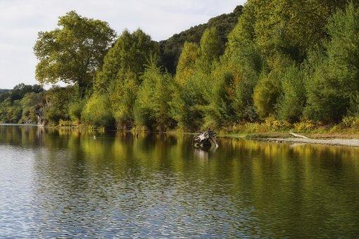 France, Nature, River, Roach, Gard, Landscape, Field