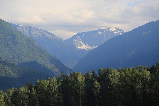 Mountains, Altai, Nature