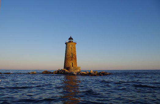 Lighthouse, Ocean, Atlantic, Maritime, Twilight, Sea