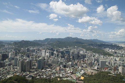 Seoul, Seoul Urban City, Korea, Cbd, City