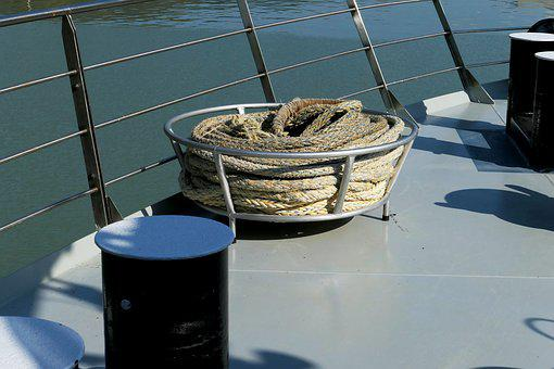 Ship, Rope, Fastening Rope, Tether, Reede, Ship Hold