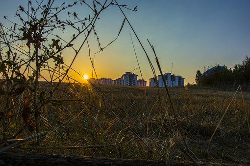 Sunset, Nature, Landscape, Sunrise, Sky, In The Evening