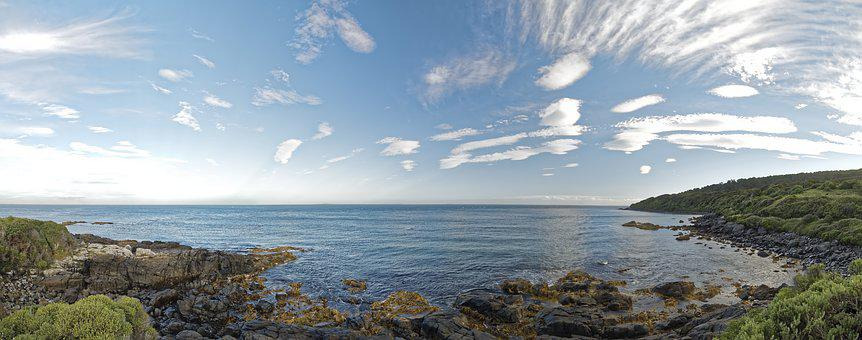 New Zealand, Stirling Point, Bluff, South Island, Sea