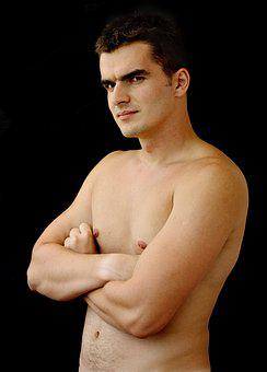 Shirtless, Young, Man, Body, Handsome, Athlete, Strong