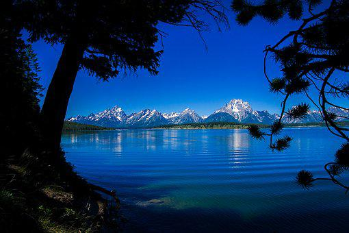 Lake, Nature, Water, Sky, Blue, Summer, Trees
