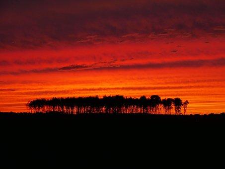 Sunset, Evening Sky, Evening Red, Orange, Orange Sky