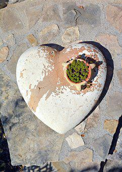 Stone Heart, Sculpture, Love, Hope, Symbol, Decoration