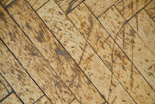 Wood, Table, Parquet, Wood-fibre Boards, Old, Drawn