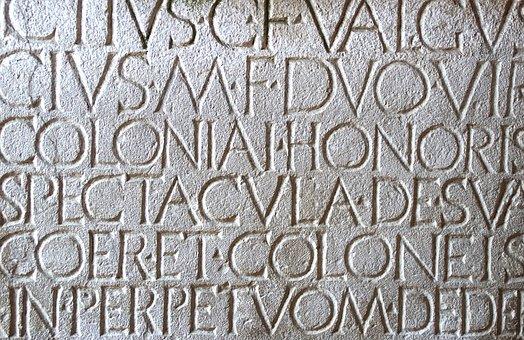 Pompeii, Latin, Roman, Engraving, Text, Italy, Pierre
