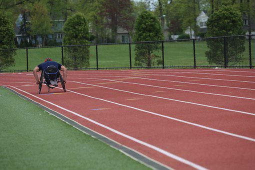 Wheelchair, Racing, Track, Disability, Disabled, Sports