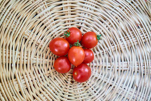 Tomato, Basket, Food, Wire Mesh, Middle, Vegetable