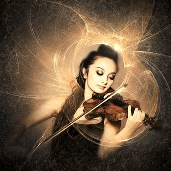 Cd Cover, Music, Violin, Woman, Light, Female