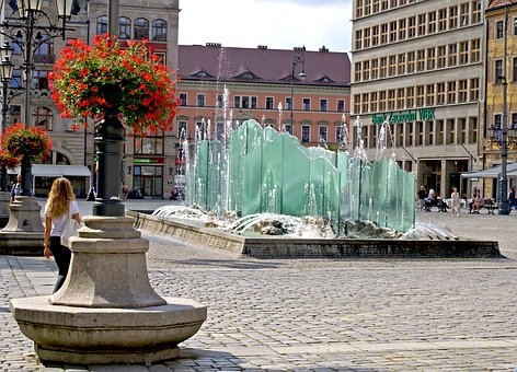 Wrocław, Wrocław Market, Fountain, Ice Fountain