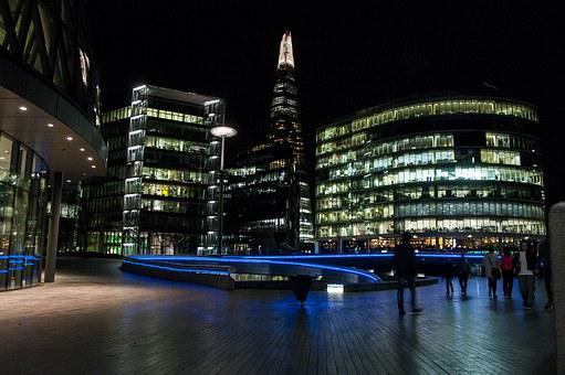 Shard, Night, City, London, Architecture, England, Uk