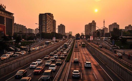 Street, Traffic, High Way, Automobile, Transportation
