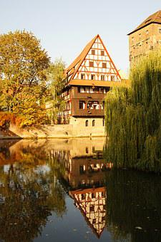 Nuremberg, Pegnitz, Old Town, Autumn, Building, River