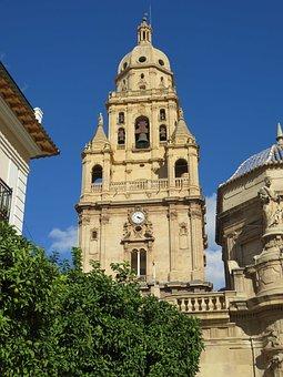 Murcia, Spain, Cathedral, Church, Baroque