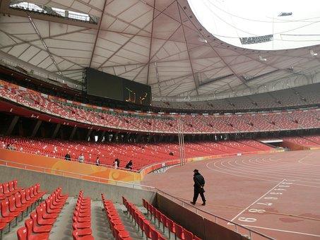 China, Beijing, Stadium, Olympia, Sport, Empty