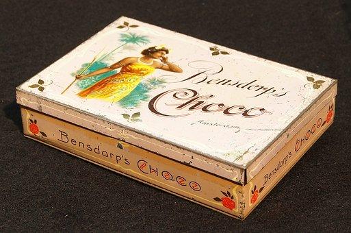 Bensdorps, Choco, Box, Tin, Package, Old, Retro
